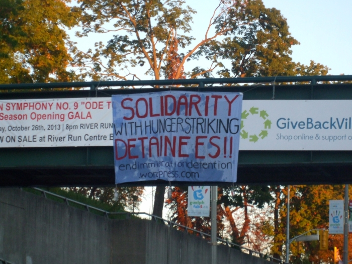 Guelph banner drop