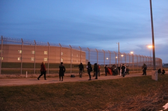 Arriving at the Central East Correctional Centre
