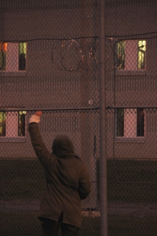 Hundreds of detainees came out to their windows to wave and yell.