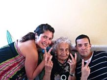 Francisco Javier Romero Astorga (right), Grandmother (who died 1 month before Francisco) Maria Ester Lamas Yañez (middle), and sister Maria Teresa Romero Astorga (left)